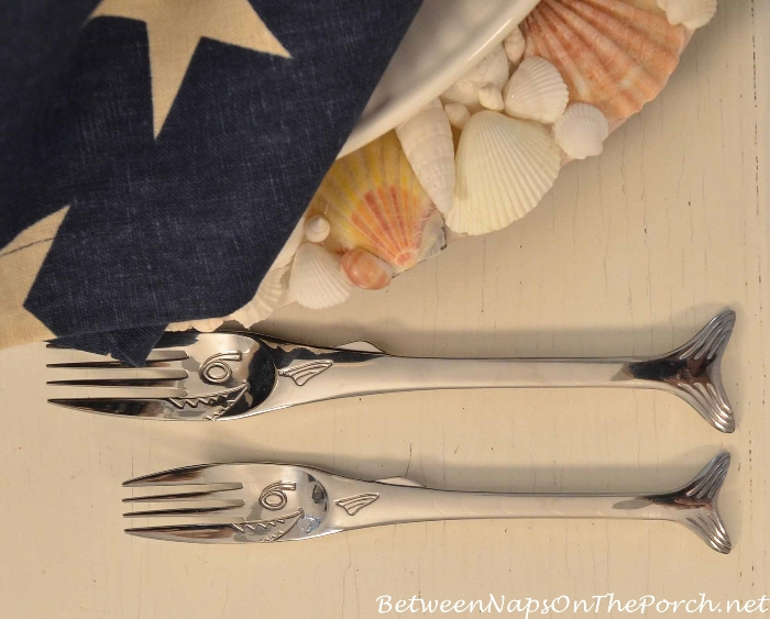 Shark Fish Flatware for a Nautical Table