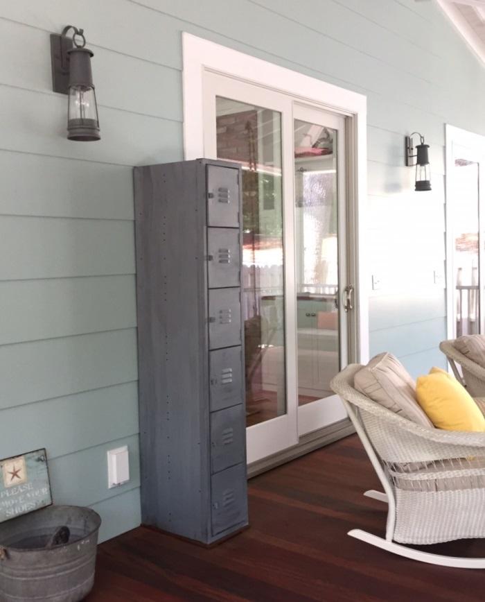 Storage on Screened Porch