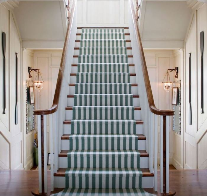 Striped Runner Rug for Staircase