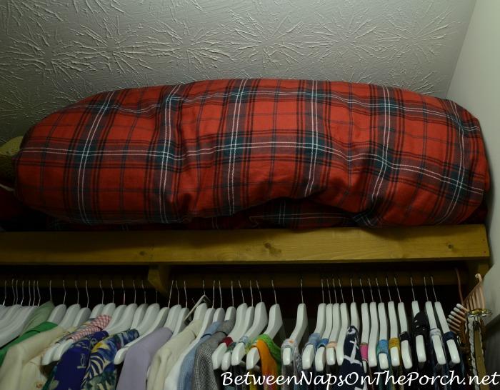 Inspirational Tartan Winter Bedskirt Stored Away for Summer