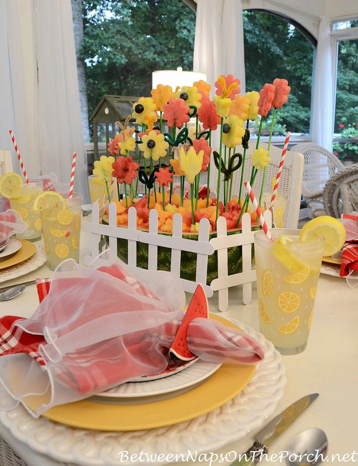 Watermelon Centerpiece for Summer Table Setting