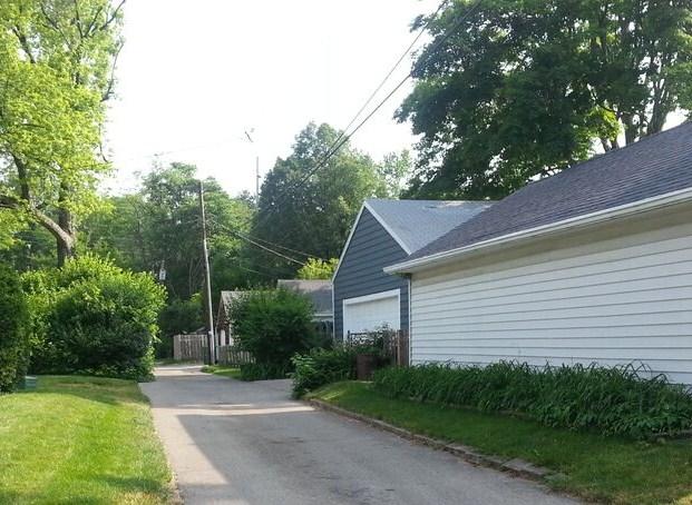 Alley Behind Homes