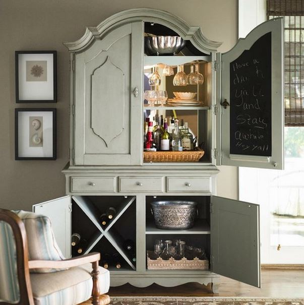 Armoire Make Great Home Bar for Entertaining