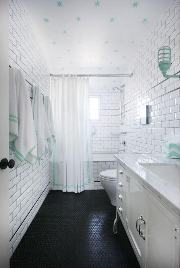 Beach House Bathroom in Aqua