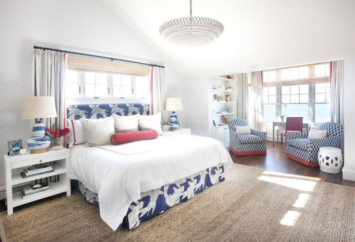 Tour a fabulous beach house on long beach island for Beach house bedroom ideas