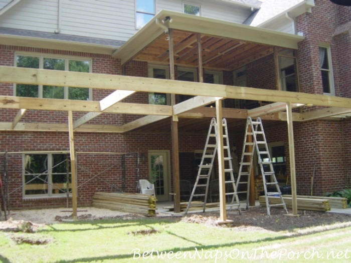Construction Begin on New Screened Porch