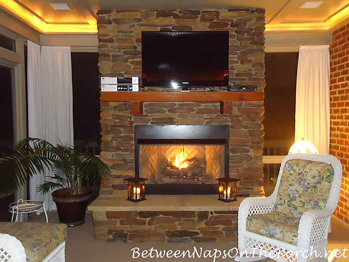 Fireplace for Screened Porch
