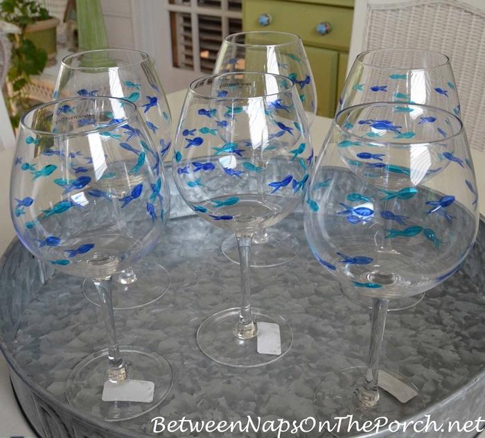 Fish Wine Glasses for Summer