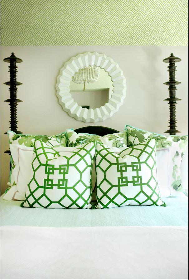 Geometric Fabric in Green