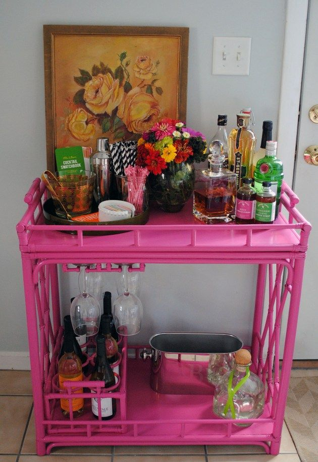 Hot Pink Bar Cart
