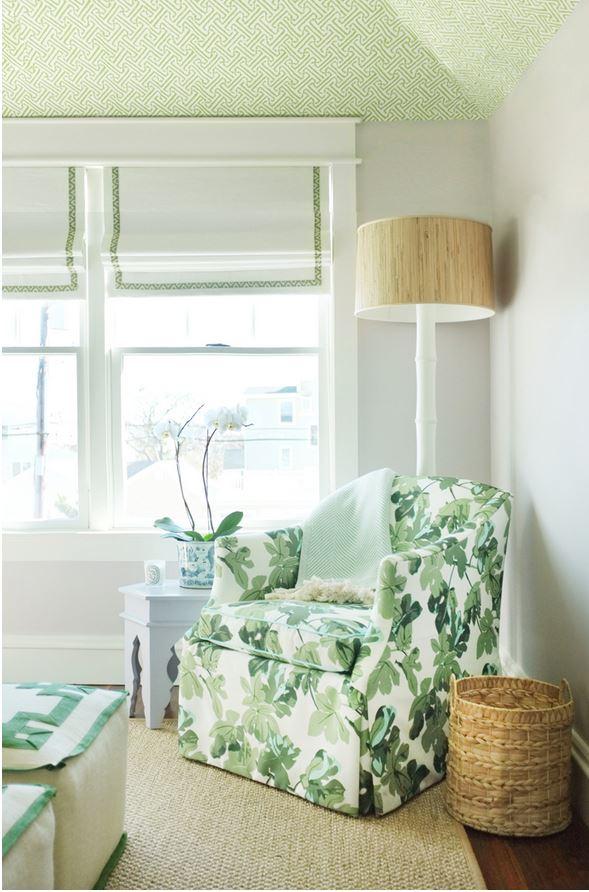Leafy Green Fabric for a Summer House