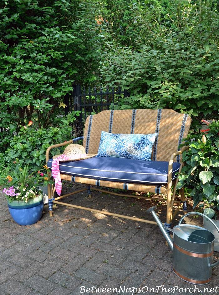Luxury Martha Stewart Oleander Collection Bench