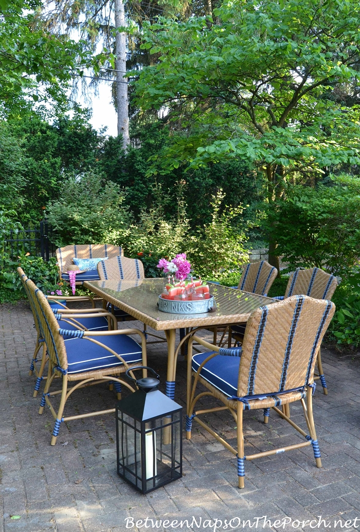 Cute Martha Stewart Oleander Collection for Dining Outside