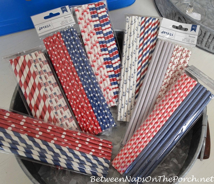Patriotic and Summer Beach Themed Straws