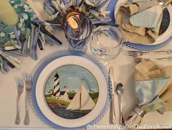Sailboat Plates by Warren Kimble, Coastal Breeze
