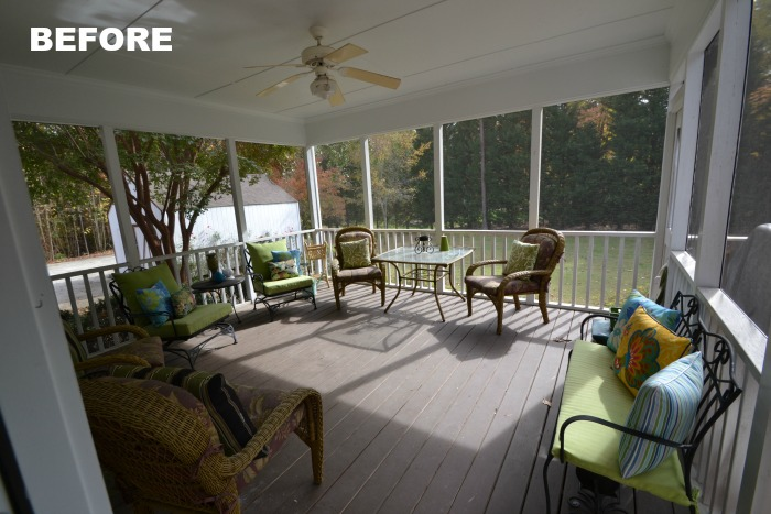 Screened Porch Before Makeover