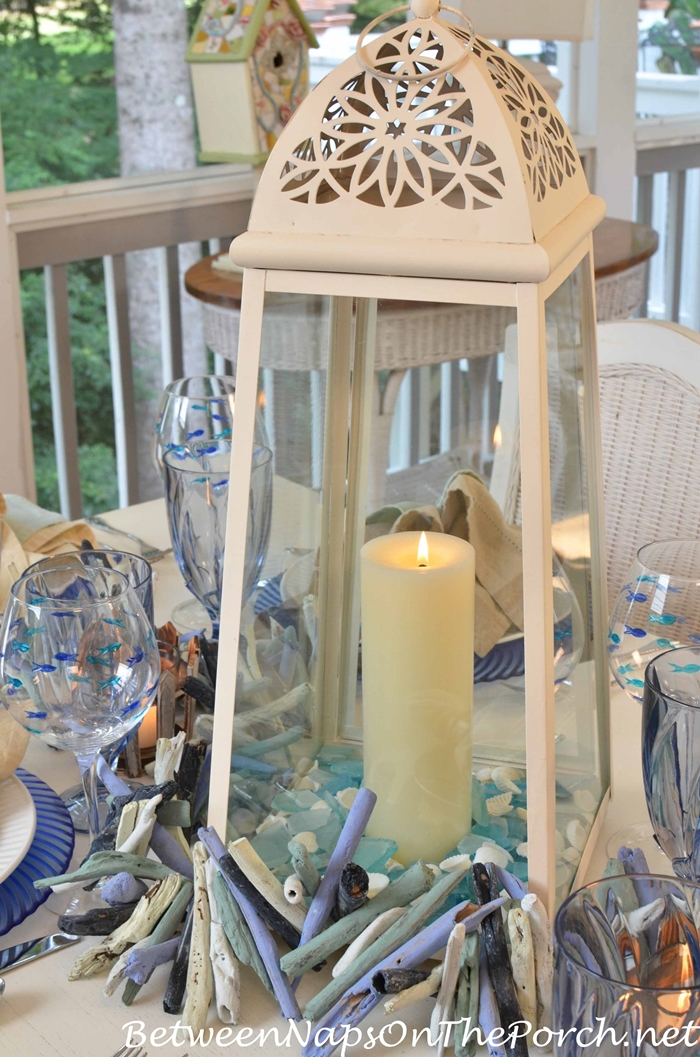 Sea Glass in Nautical Tablescape