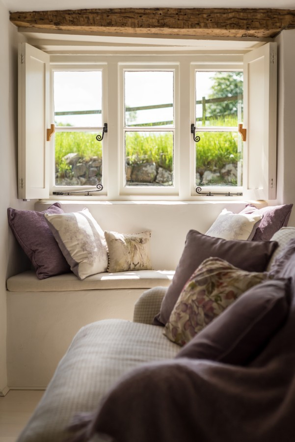 Window Seat in Faerie Door Cottage