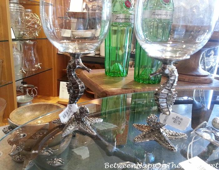 Wine Glasses with Starfish Stems