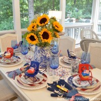 4th of July Nautical Table Setting