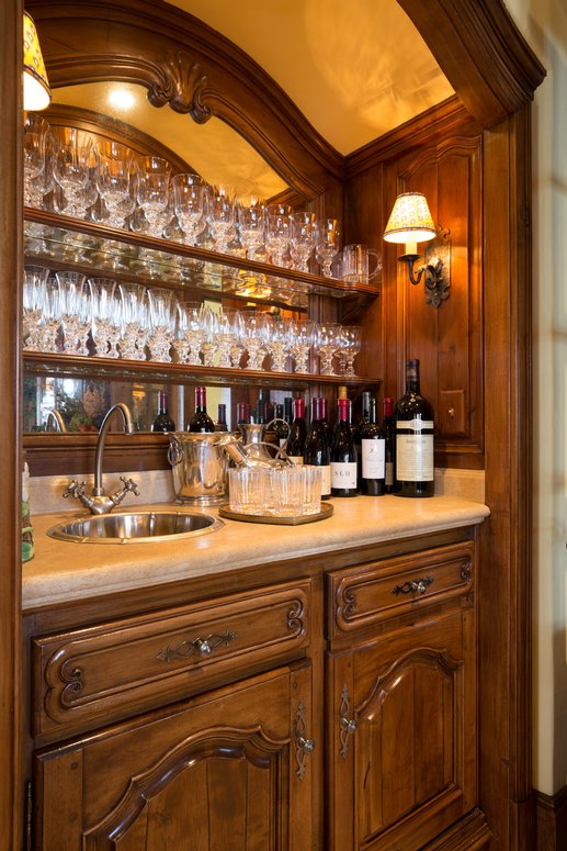Bar for a French Normandy Style Home