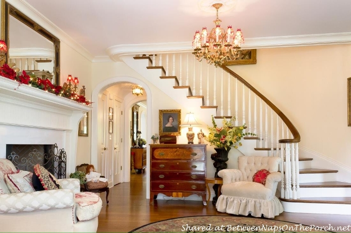 Beautiful Curved Staircase in Victorian Home