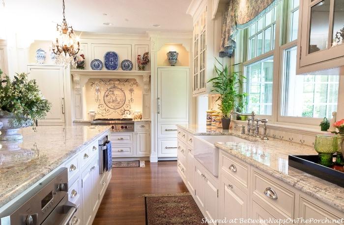 Beautiful White Kitchen With Farmhouse Kitchen