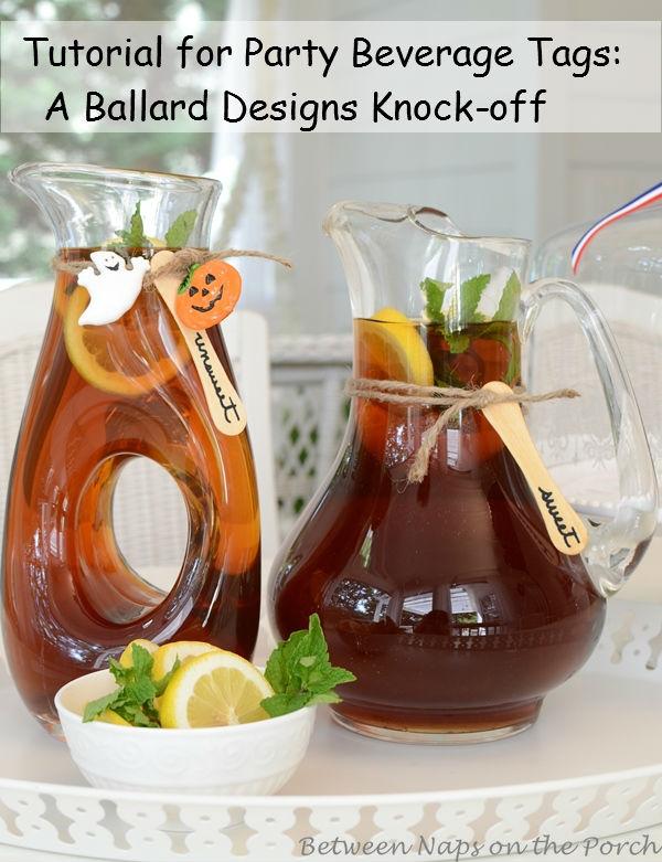 Beverage Tags, Ballard Designs Knockoff
