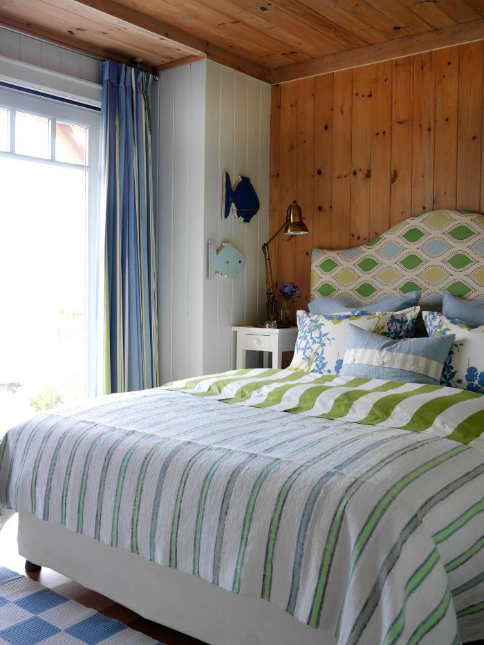 Blue & Green Bedroom, Sarah Richardson's Summer House