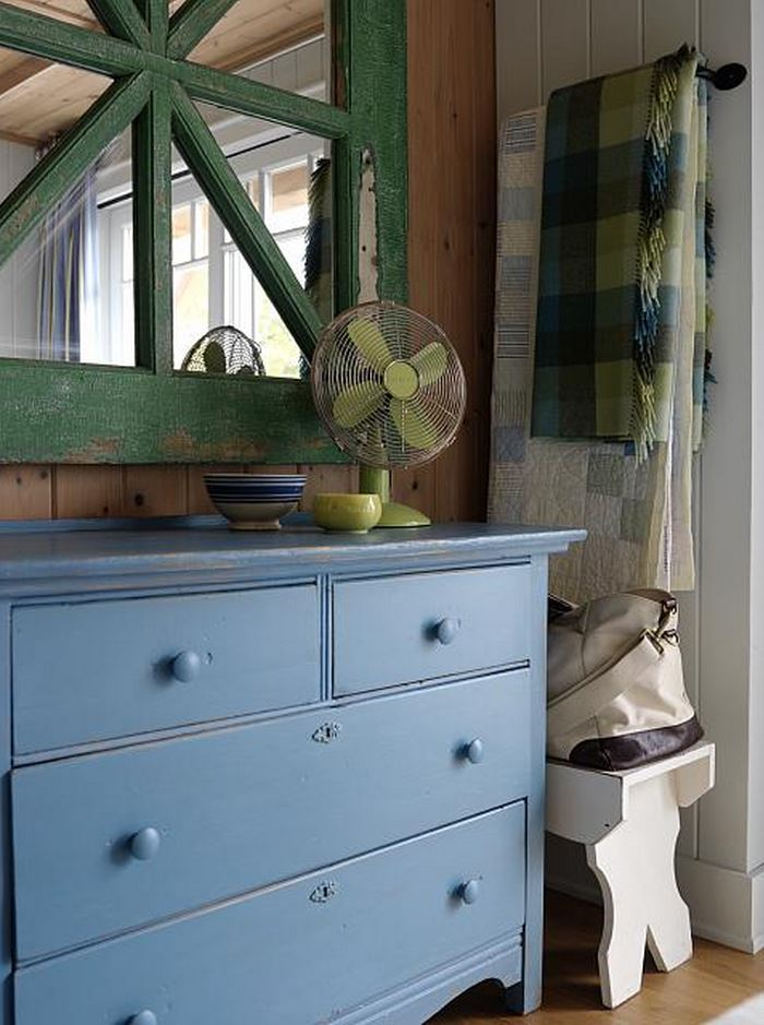 Blue Painted Chest in Sarah Richardson's Summer Beach House Cottage