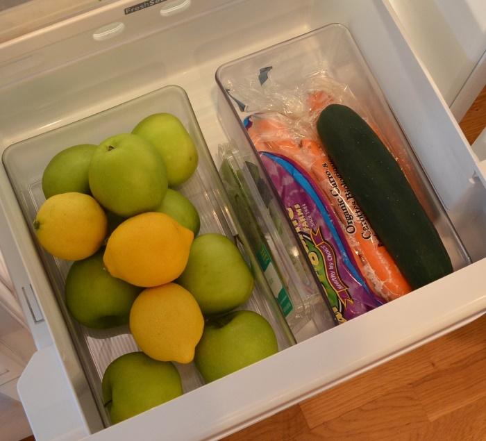 Clear Storage Bins For Refrigerator Or Shelf
