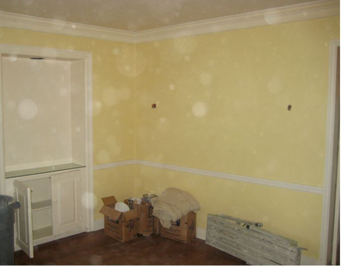 Dining Room in Frances Schultz's Bee Cottage Home Before Makeover