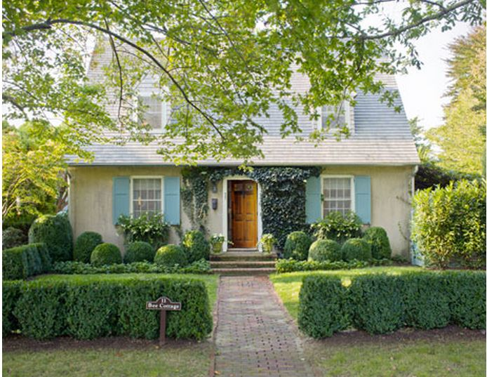 Exterior of Frances Schultz's Bee Cottage Home after Makeover