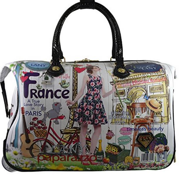 Fashion Rolling Carry On Bag With French Design