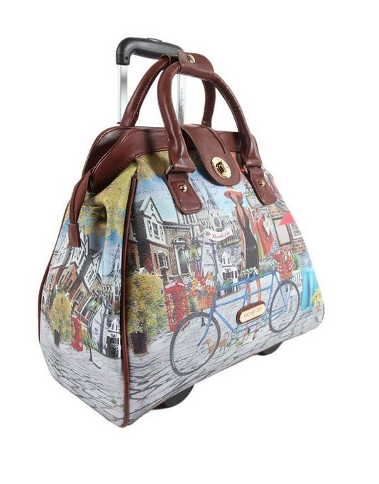 Fashion Rolling Carryon Bag by Nicole Lee