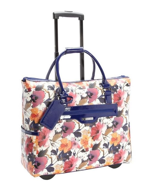 Feminine Floral Rolling Carry on Bag