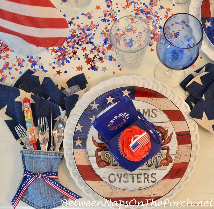 Flag Plates for 4th of July