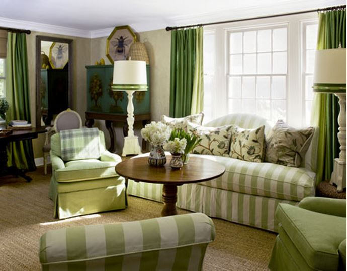 Frances Schultz's Bee Cottage Living Room, East Hampton