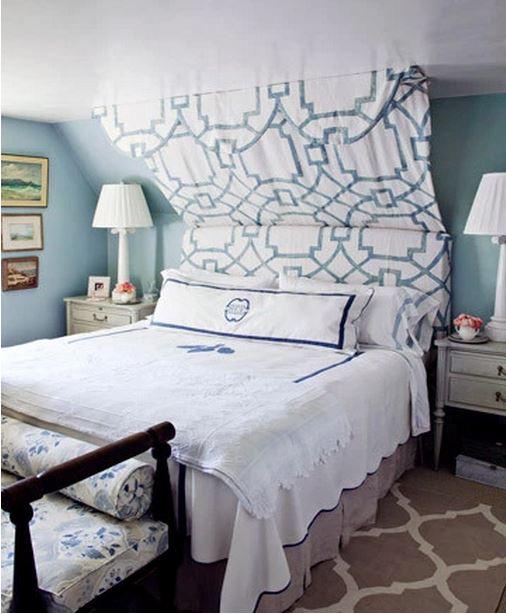 Frances Schultz's Bee Cottage Master Bedroom, East Hampton