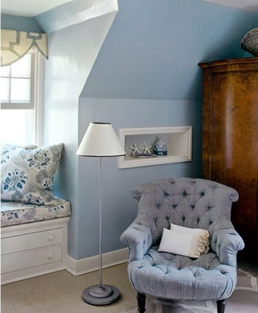 Frances Schultz's Bee Cottage Master Bedroom Window Seat and Reading Corner