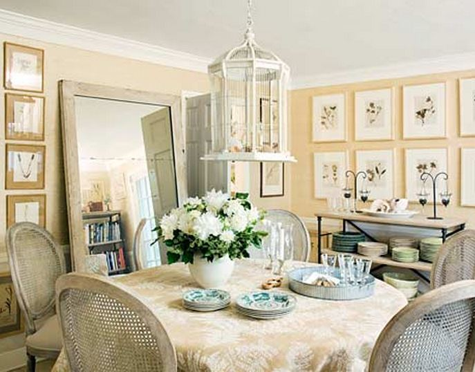 Frances Schultz's Dining Room in Bee Cottage