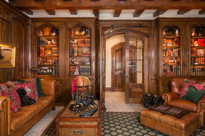 Gorgeous Paneled Library
