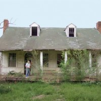 Historic Mississippi Farmhouse Before Restoration
