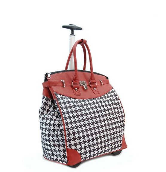 Houndstooth Rolling Carry On Bag