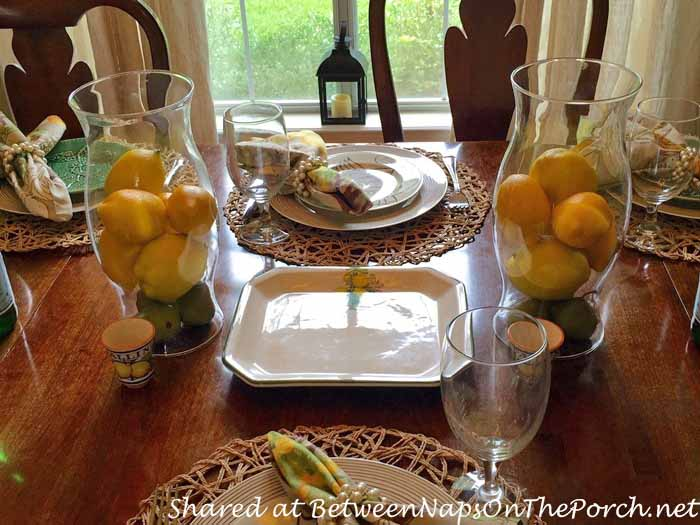 Italian Themed Tablescape with Lemon Centerpiece 03_wm