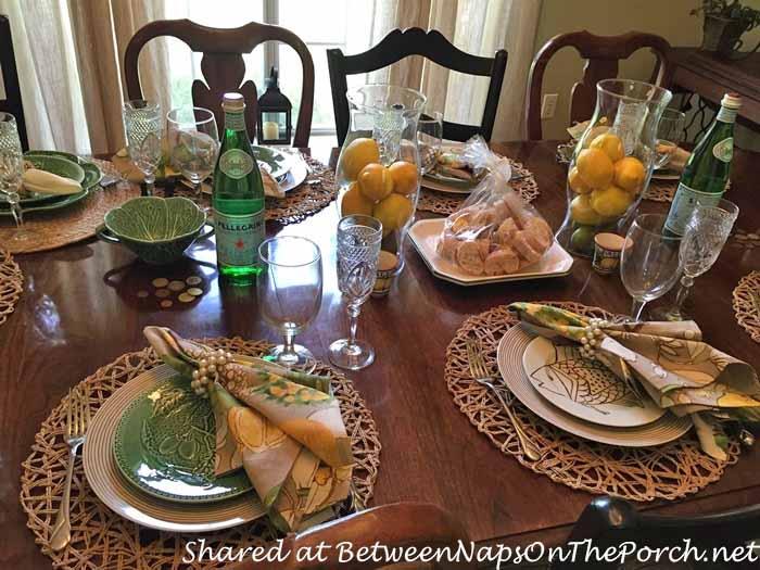 Italian Themed Tablescape with Lemon Centerpiece 10_wm