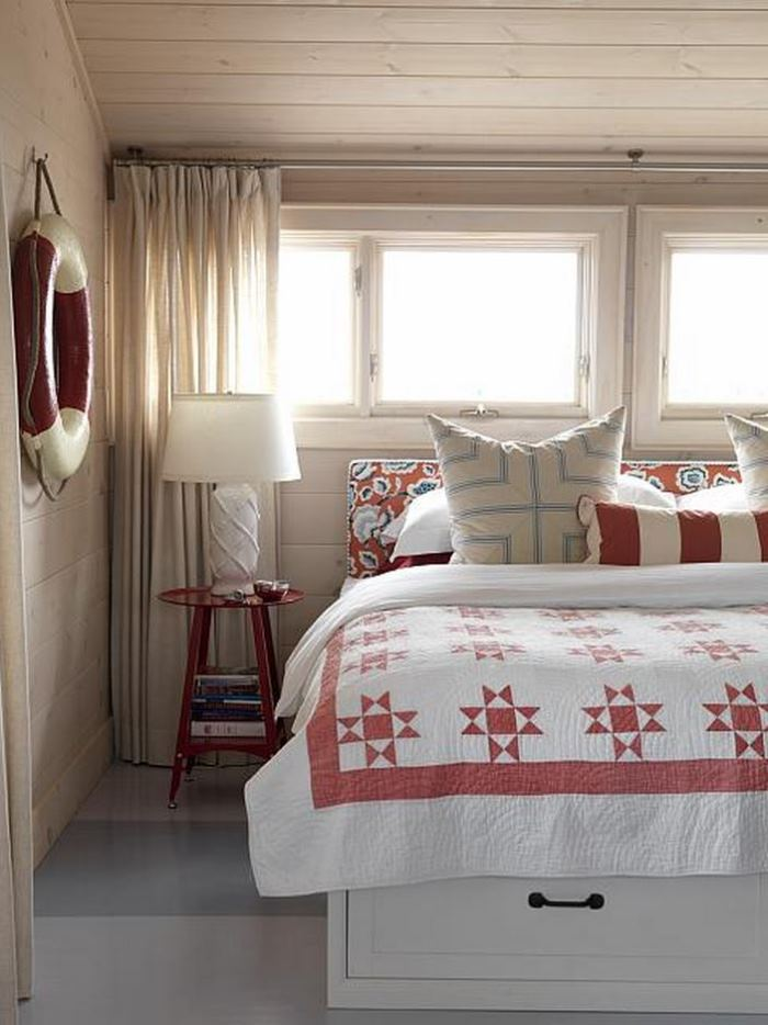 Master Bedroom in Sarah Richardson's Summer Beach House Cottage