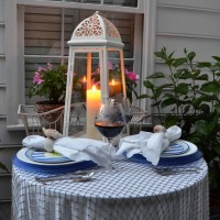 A Nautical Table Setting by Candlelight
