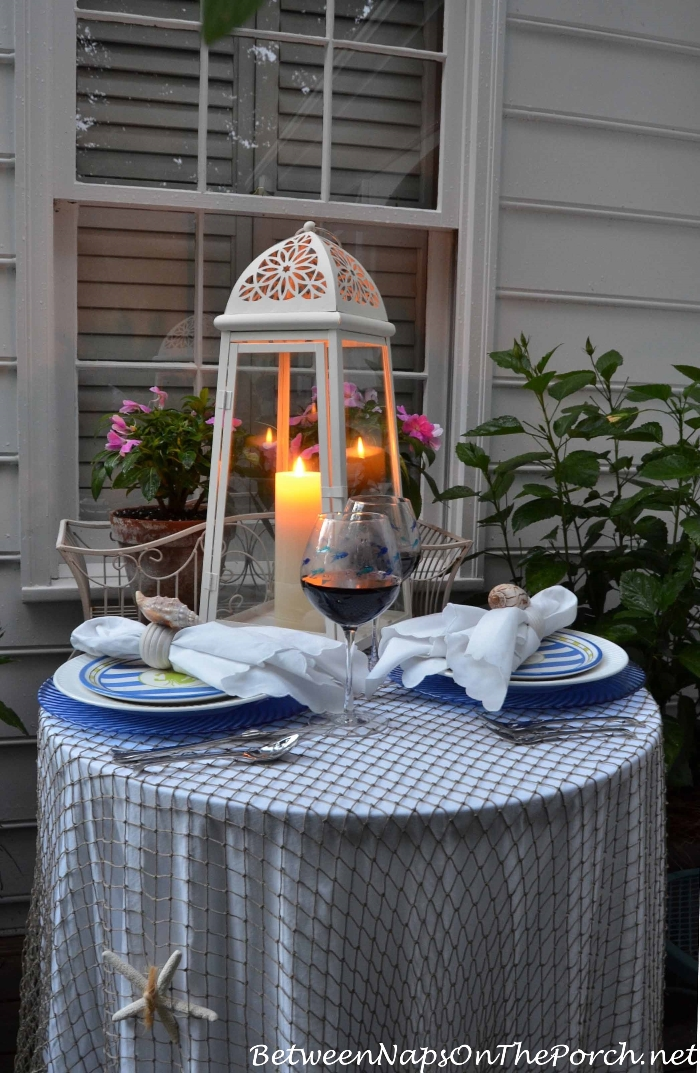 Nautical Tablescape by Candlelight 1