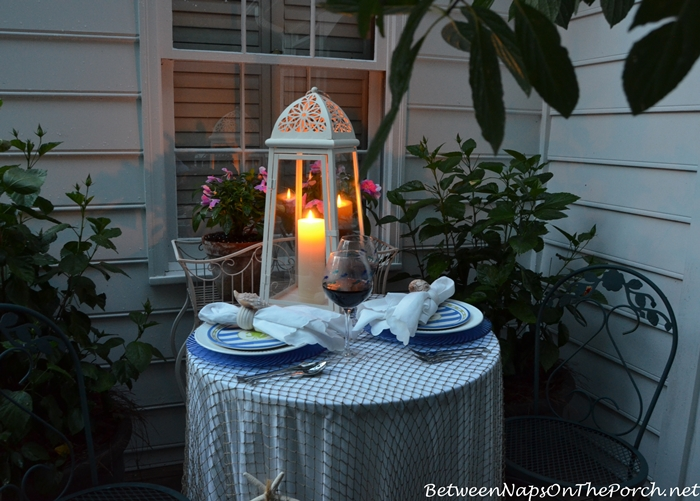 Nautical Tablescape by Candlelight 2